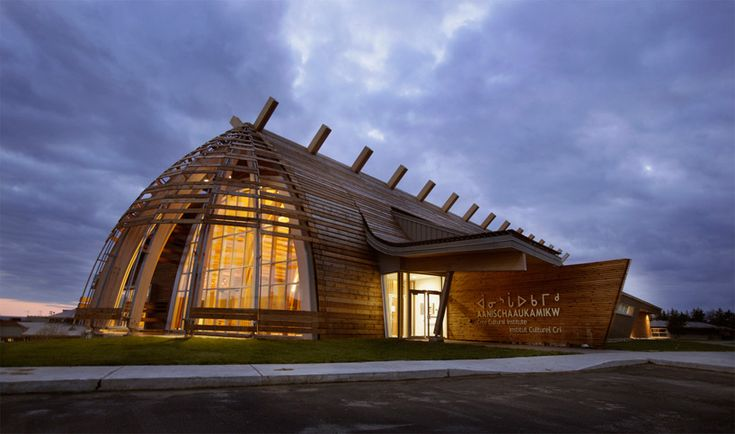 Cultural Center Aanischaaukamikw Cree In the northern Canadian village of Oujé-Bougoumou / Rubin & Rotman Architects