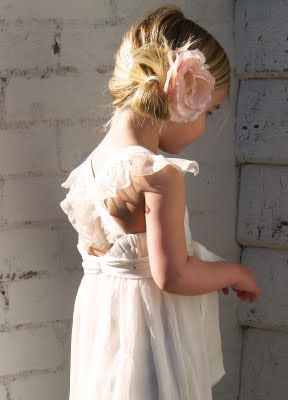 Gorgeous hair and love the vintage style dresses, very sweet for the littlies.