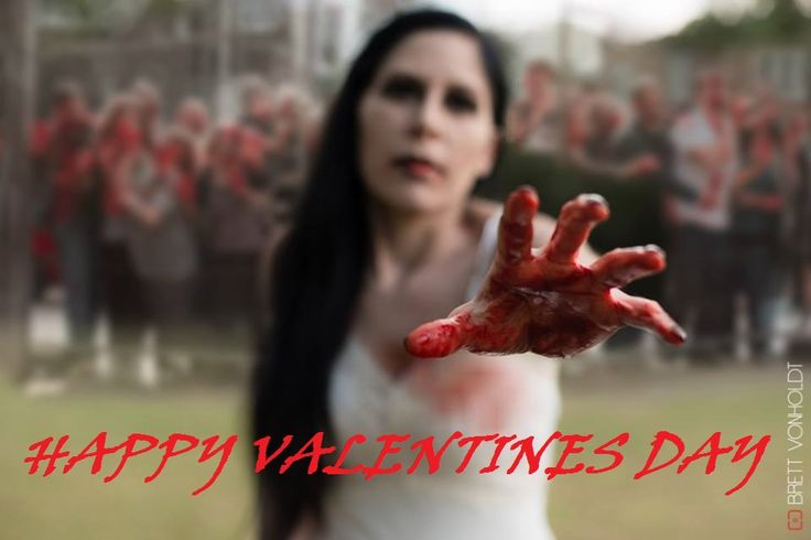 Zombie Queen: let me have your heart! zombie Queen, fake blood, bloody make-up, valentines day, zombie gang