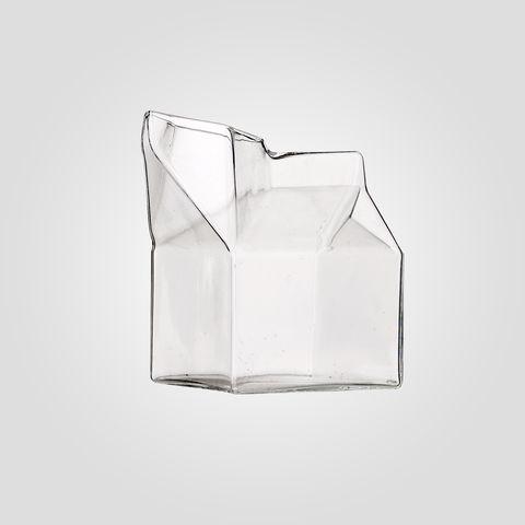 Mjölkkanna i Glas - Klassisk tetra-stil - 9x9x9 cm - Köp nu!