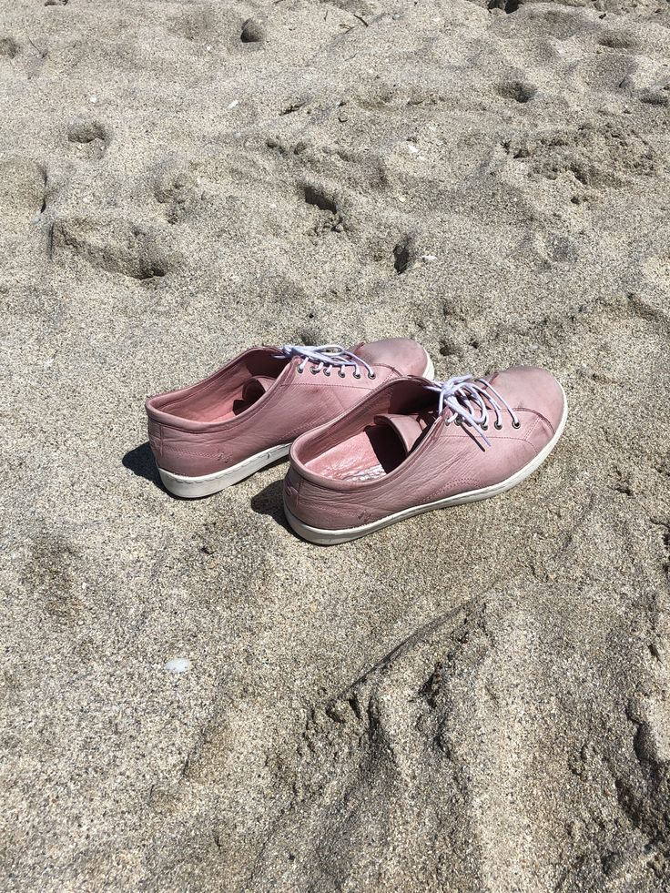 Pink leather handmade sneakers