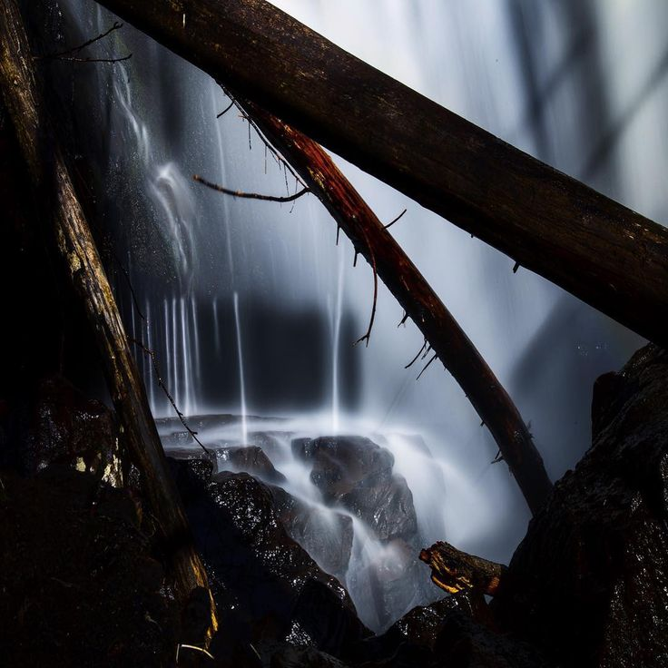 Conversations with the light. Welcome inside one of my favorite waterfalls, at Semsvann in Asker.
