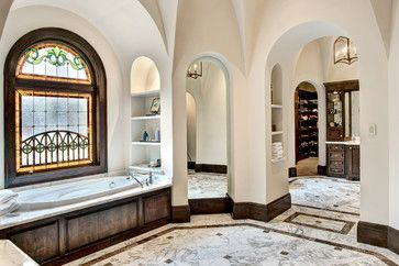 Interior - mediterranean - Bathroom - Houston - Allan Edwards Builder Inc