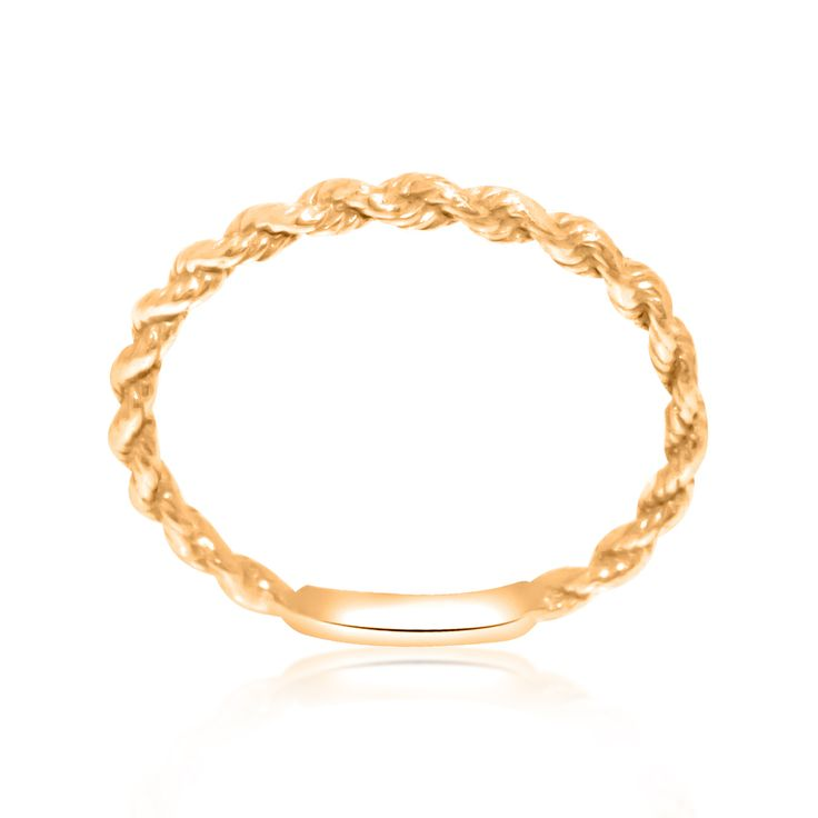 14K Pink Gold Twisted Band  Total Weight: 1.0 g Dimensions: 1.8 mm Ring Size: 5.25 TU-#M3892 SKU: 10017107 This pink gold twisted band is sure to be loved.  #stackablering #pinkgold #twisted #ropering