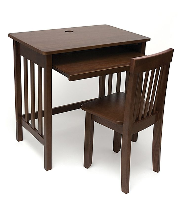 Take a look at this Walnut Finish Kids Computer Desk & Chair today!