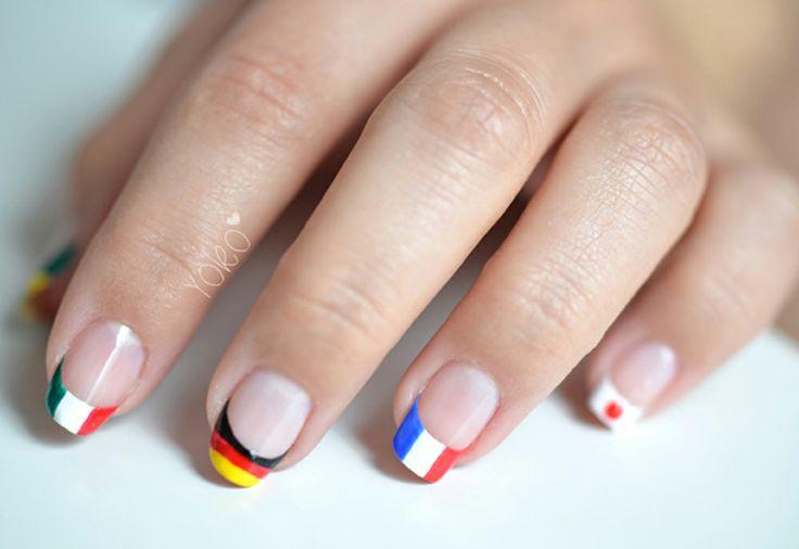 Nail Art Drapeaux - Yoko
