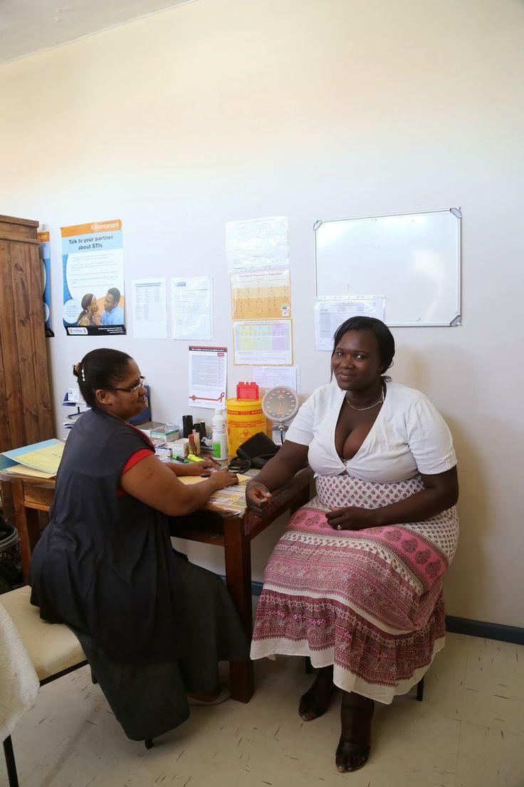 Medical testing on a South African farm.