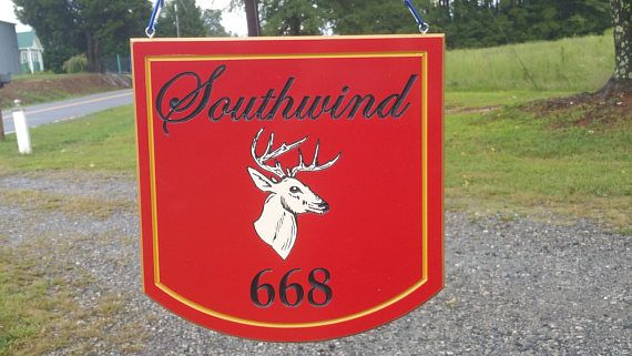 Custom Address Signs-Outdoors-Double Sided-Hanging-PVC Board