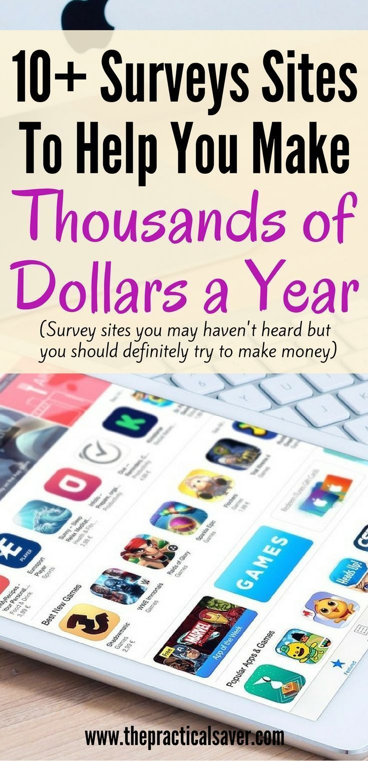 10+ Best Surveys To Help You Make Thousands of Dollars A Year. Make ...