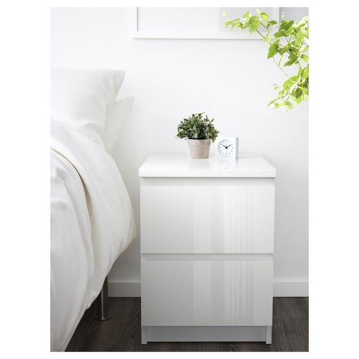 IKEA MALM chest of 2 drawers Extra roomy drawers; more space for storage.