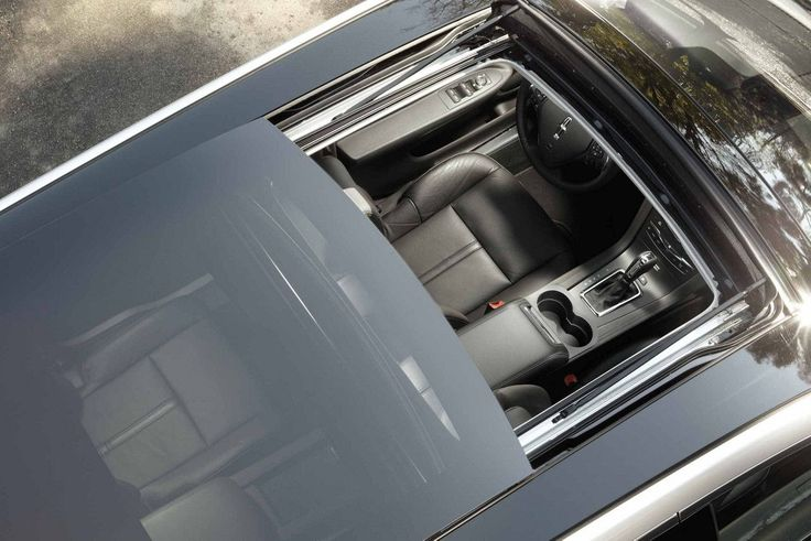 The available panoramic power Vista Roof® on the Lincoln MKT is shown from above.
