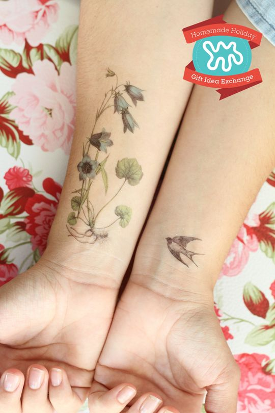 Homemade Holiday Gift Idea: Make Custom Temporary Tattoos — 2015 HOMEMADE HOLIDAY GIFT IDEA EXCHANGE: PROJECT #1