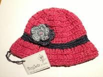 Buglets by Barbs cloche hat in raspberry storm