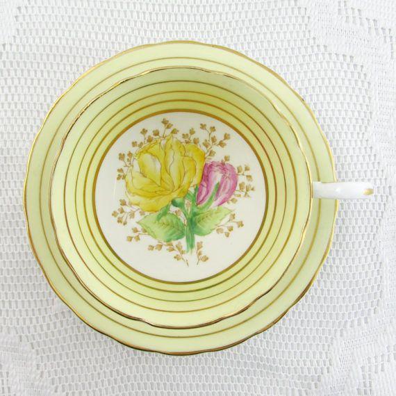 Grafton China Hand Painted Yellow Flowers