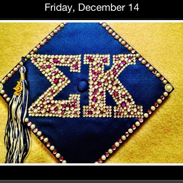 Sigma Kappa cap - this would be so presh if i did it with AXID <3
