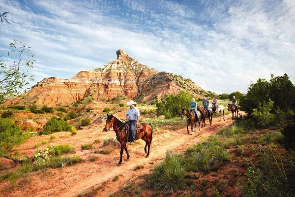 Take a ride by horse or mountain bike, or explore on foot in almost 30,000 acres of canyon carved out over a million years. Palo Duro Canyon, TX