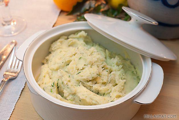 Kremete poteter med hvitløk og gressløk | Millas Mat