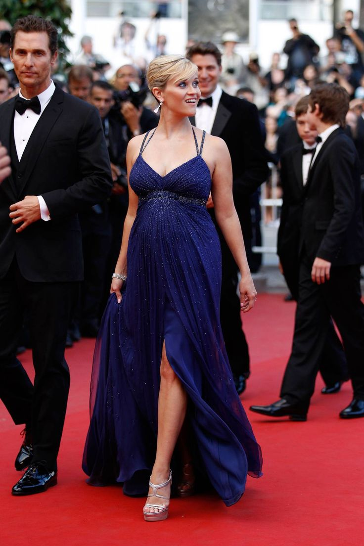 Reese Witherspoon at Cannes... THIS is how you rock a red carpet maternity-style (via The 25 Best Red-Carpet Moments This Year - The Cut)