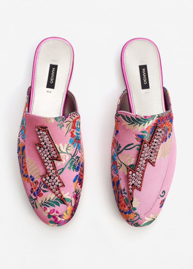Crystal slip on loafers | MANGO