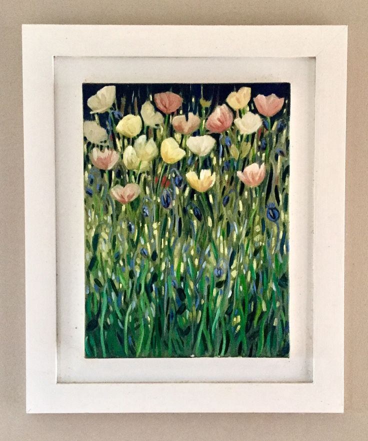 Night Poppies  Emerboweart.  Buy it now on my etsy > https://www.etsy.com/ie/people/emerbowe?ref=hdr_user_menu #Painting #oiloncanvas #Art #oilpainting #oil #canvas #paint #irish #irishartist #EmerBowe #dark #poppies #flowers #flower #mysterious #enchanting #enchanged #forest