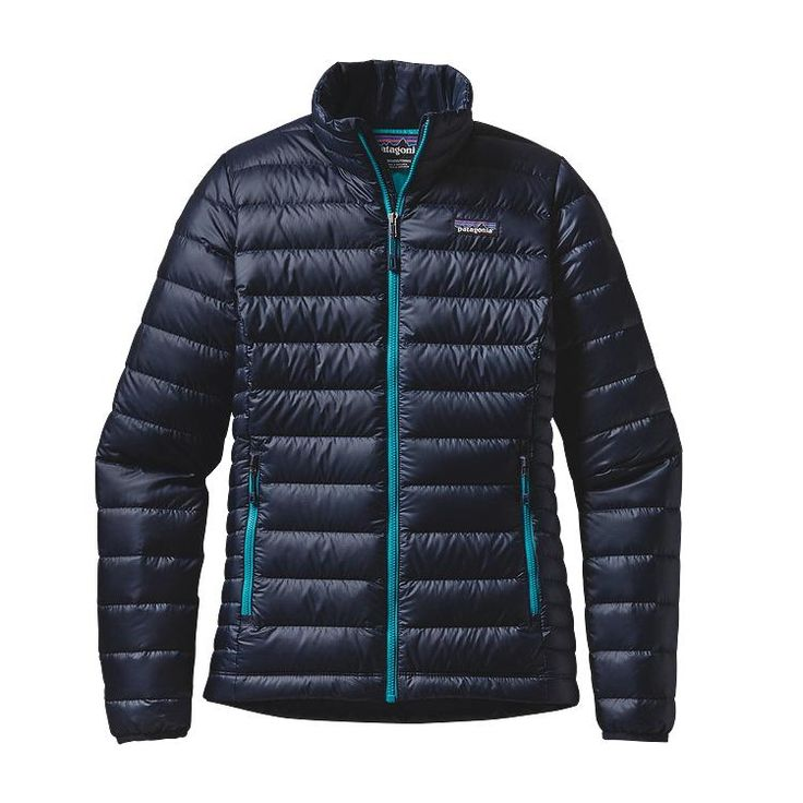 Patagonia Women\'s Down Sweater Jacket - Navy Blue w\/Epic Blue NBEB