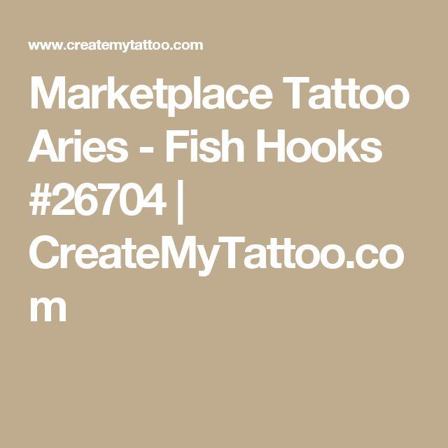Marketplace Tattoo Aries - Fish Hooks #26704 | CreateMyTattoo.com