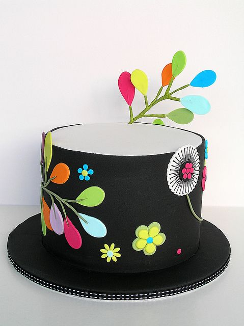 Colourful Leaves cake by Sweet Disposition CakesCake Recipe, Disposition Cake, Cake Design, Cake Decor, Funky Cake, Leaves Cake, Colours Leaves, Sweets Disposition, Tops Hats