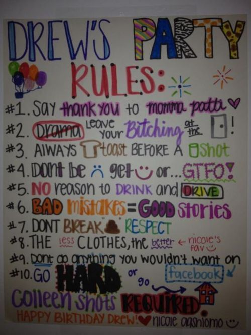 Best 25 House Party Rules Ideas On Pinterest Party