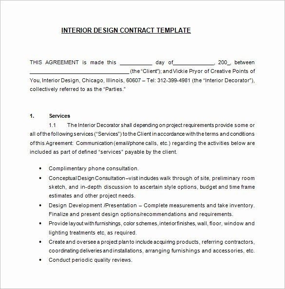 Interior Design Contract Template Best Of Interior Design Letter Agreement Template Collect In 2020 Contract Template Freelance Graphic Design Interior Design Template