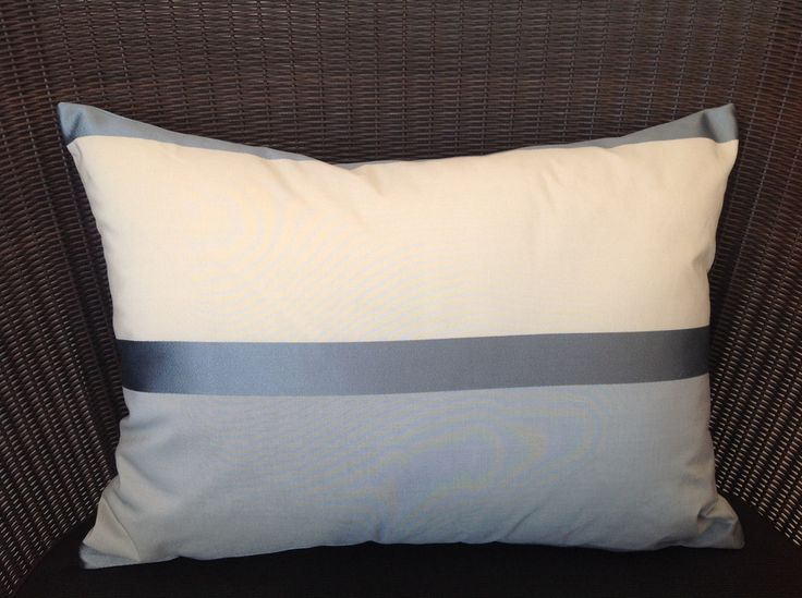 Duck Egg and Cream Rectangle Cushion.