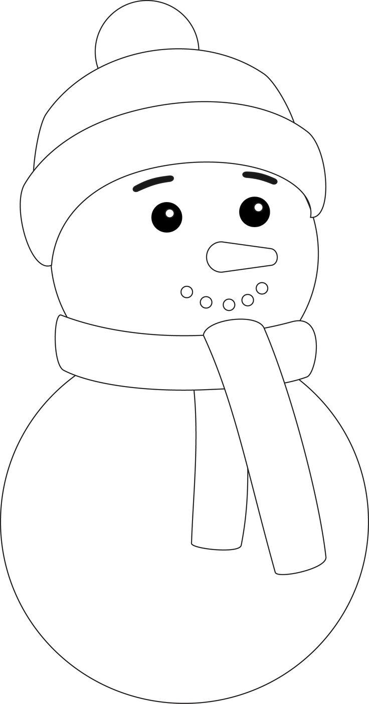 маленькая картинка снеговика раскраска любят приходить