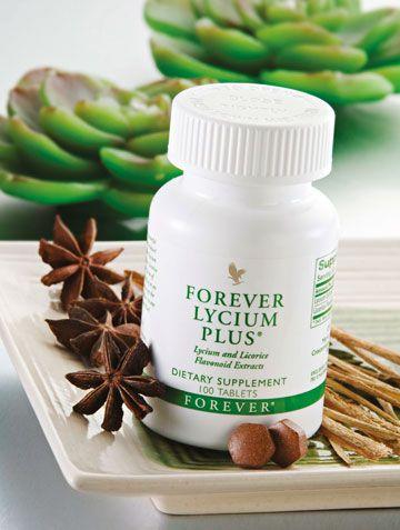 Forever Lycium Plus est un mélange unique de baie de goji et de racines de réglisse. Il stimule les défenses naturelles.