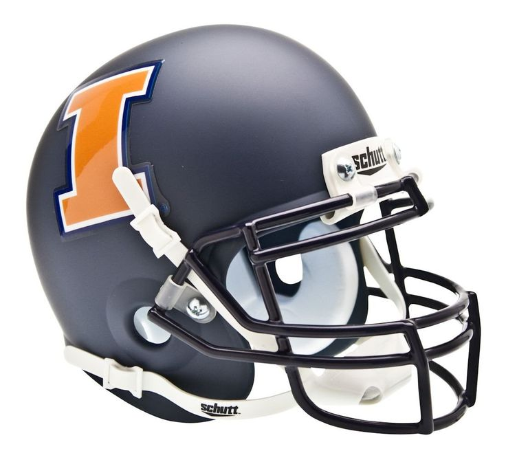 Illinois Fighting Illini Schutt Mini Helmet - Alternative Helmet #1, Matte Navy
