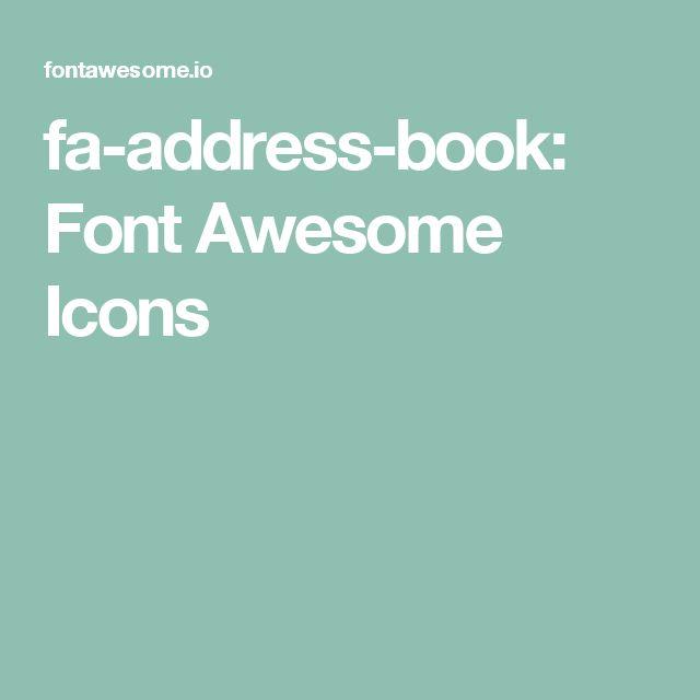 fa-address-book: Font Awesome Icons
