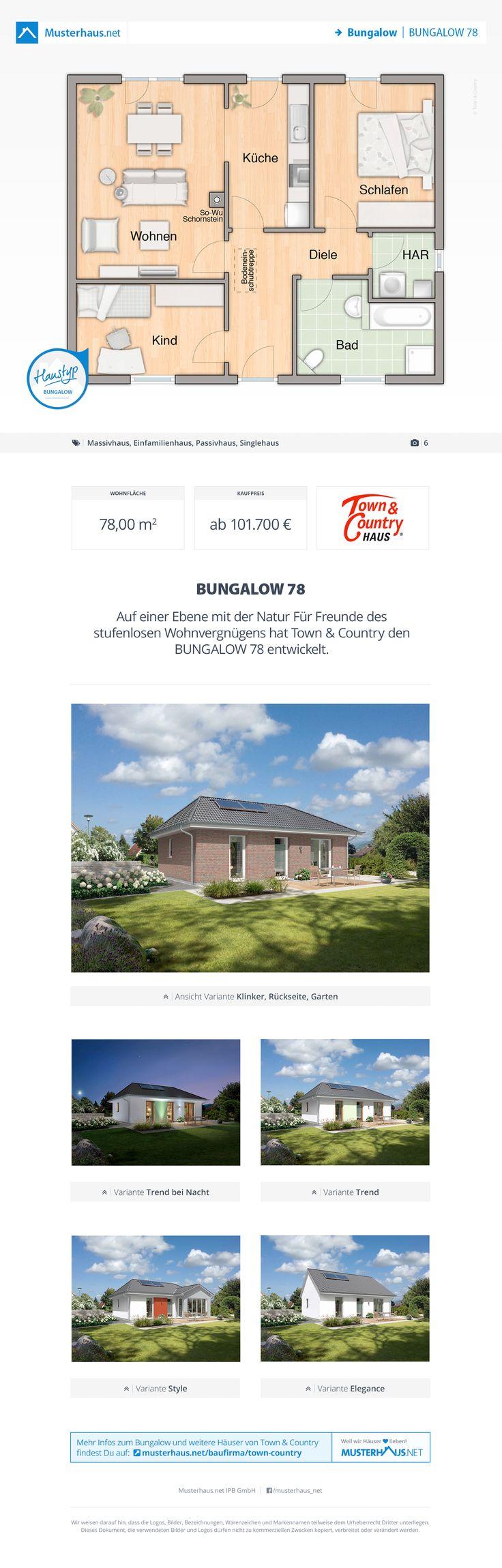 Musterhaus bungalow grundriss  12 besten Bungalow Grundrisse Bilder auf Pinterest | Offene küche ...