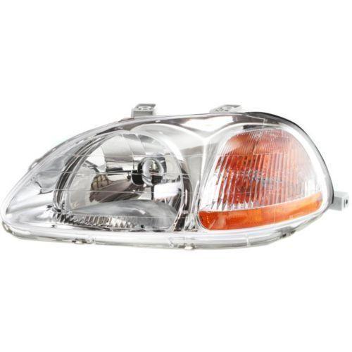 1996-1998 Honda Civic Head Light LH, Lens And Housing