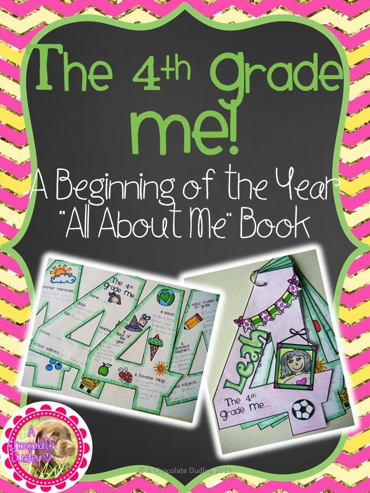 "BACK TO SCHOOL for 4th GRADE! Let your students introduce themselves with this Beginning of the Year All About Me ""craftivity"". Kiddos will decorate and record information about themselves on a variety of pages shaped as the number 4!"