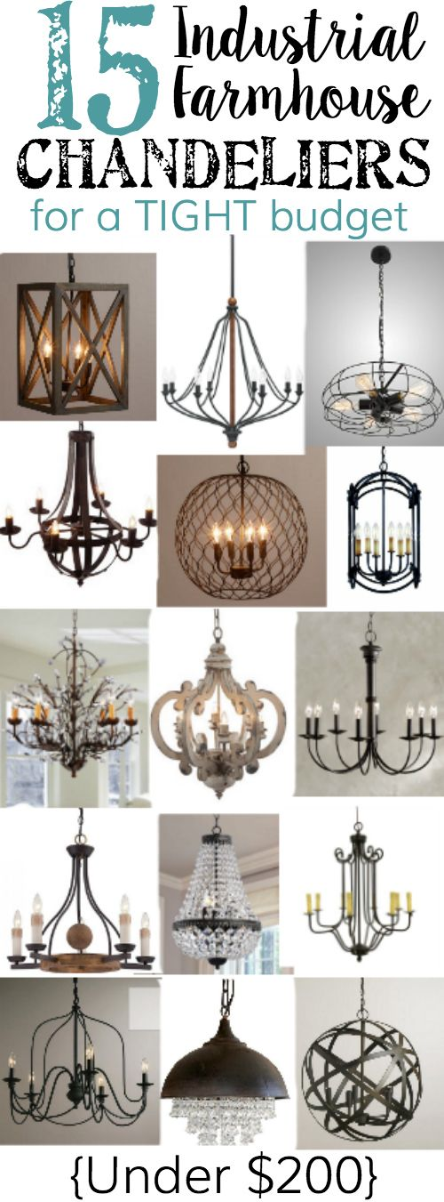 15 Farmhouse Chandeliers For A Budget Chandeliercountry Chandelierfarmhouse Dining Room