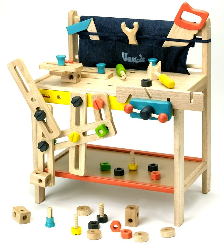 Wooden Toy Workbench set