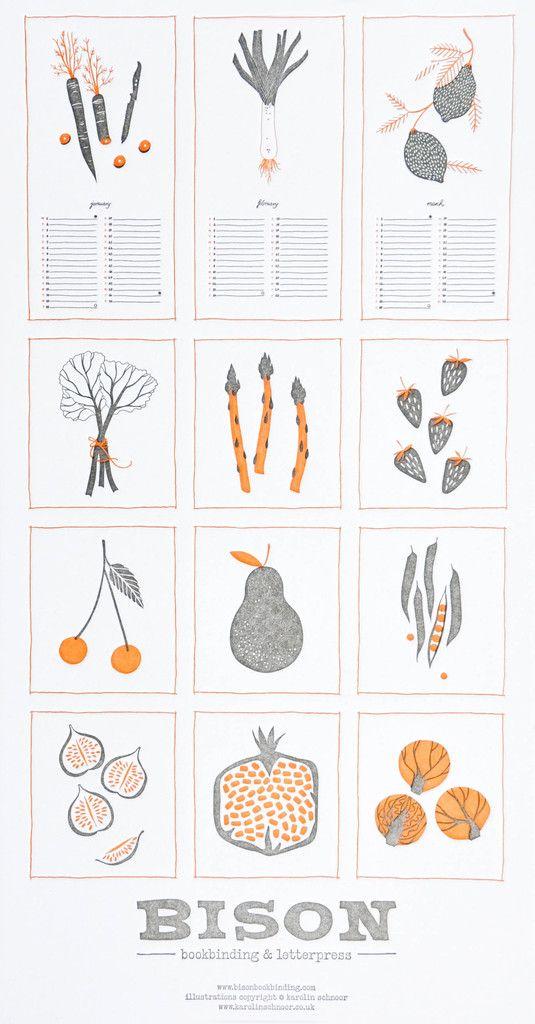 Seasonal Produce 2014 Calendar