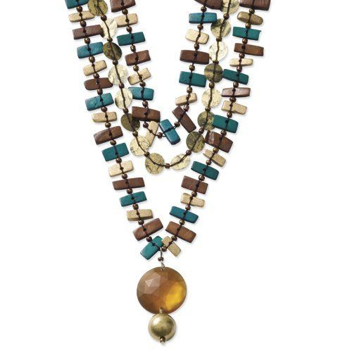Silver-Tone Multicolor Coconut, Bead & Sequin 18in Necklace Shop4Silver. $6.88. Save 81%!