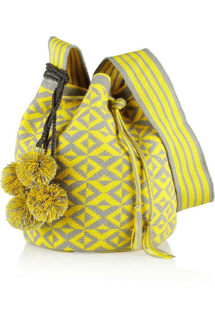 Sophie Anderson | Nataly woven cotton bucket bag | NET-A-PORTER.COM