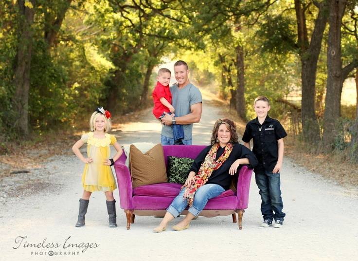 family: Photography Families, Color, Families Photography, Red Couch, Families Photos, Families Pics, Families Portraits, Photography Ideas, Vintage Chairs Photography