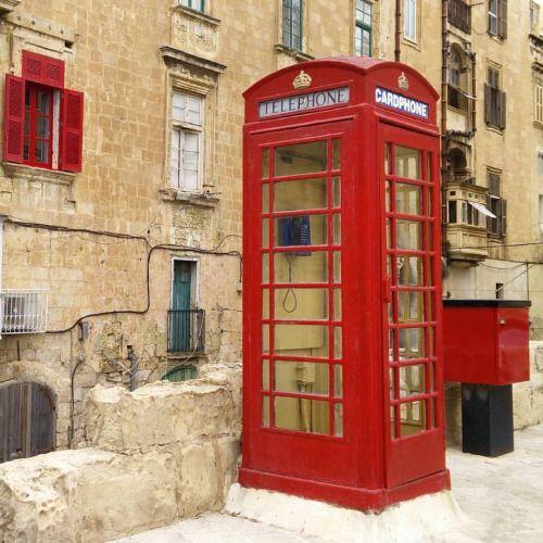 The remains of the Britons: telefon booths, left side traffic, electrical outlets.  #travel #Malta #Vallletta #visitMalta #maltaphotography  #lovemalta  #street (w: Valletta, Malta)