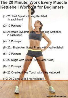 Kettlebell Exercises For Women | Kettlebell workout for beginners. https://www.kettlebellmaniac.com/kettlebell-exercises/ #cardioforbeginners #kettlebellexerciseforbeginner
