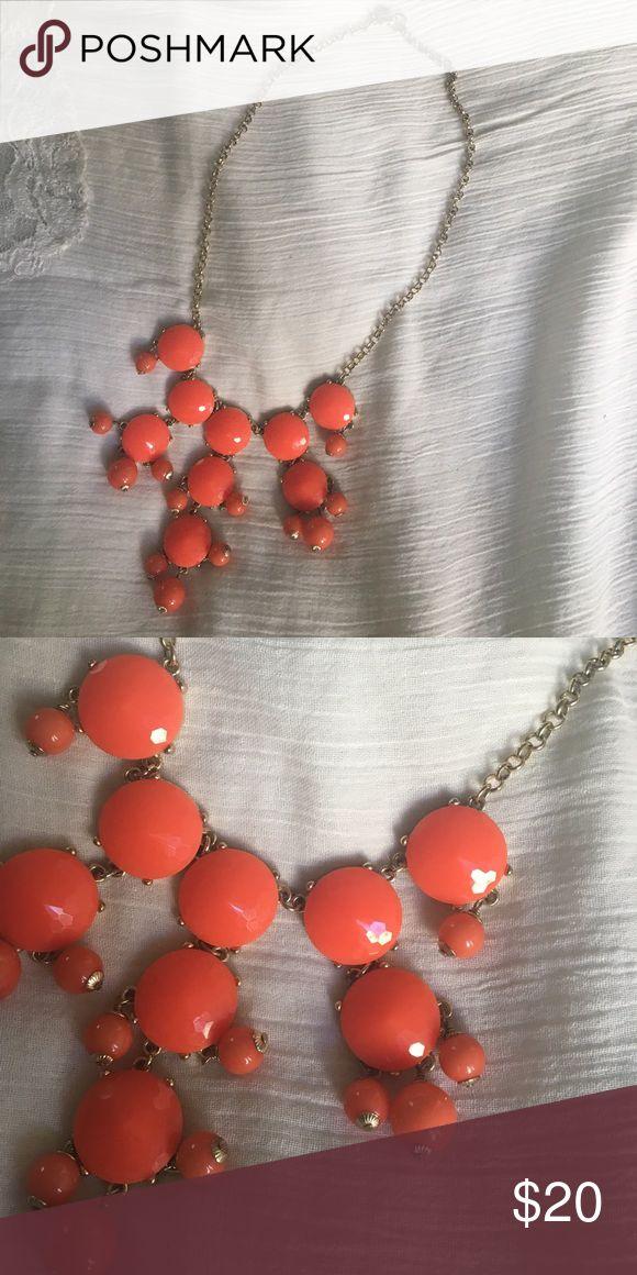 J. Crew Bubble Necklace Adorable J. Crew Bubble necklace in coral color. J. Crew Jewelry Necklaces