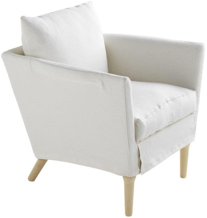 Fåtölj avtagbar Linne Fransk vit 2 Interiors Pinterest Sängkläder