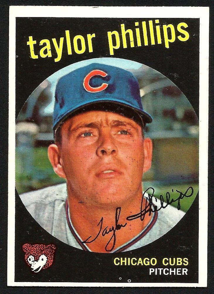 1959 topps baseball taylor phillips cubs 113 near mint