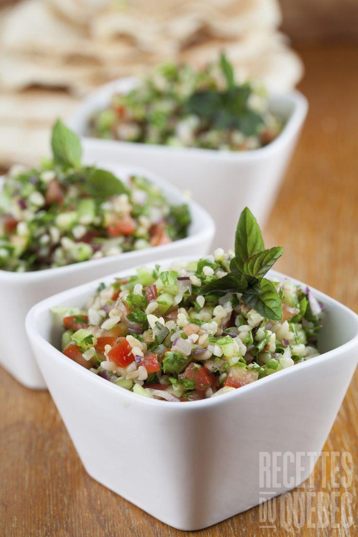 Taboulé aux pois chiches http://www.recettes.qc.ca/recette/taboule-149452 #recettesduqc #taboule #salade