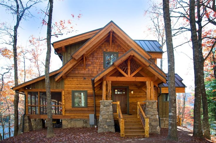 Off-grid Fish Camp - North Georgia Log & Timber Homes